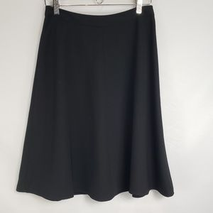 Vince Camuto Black A Line Swing Skirt